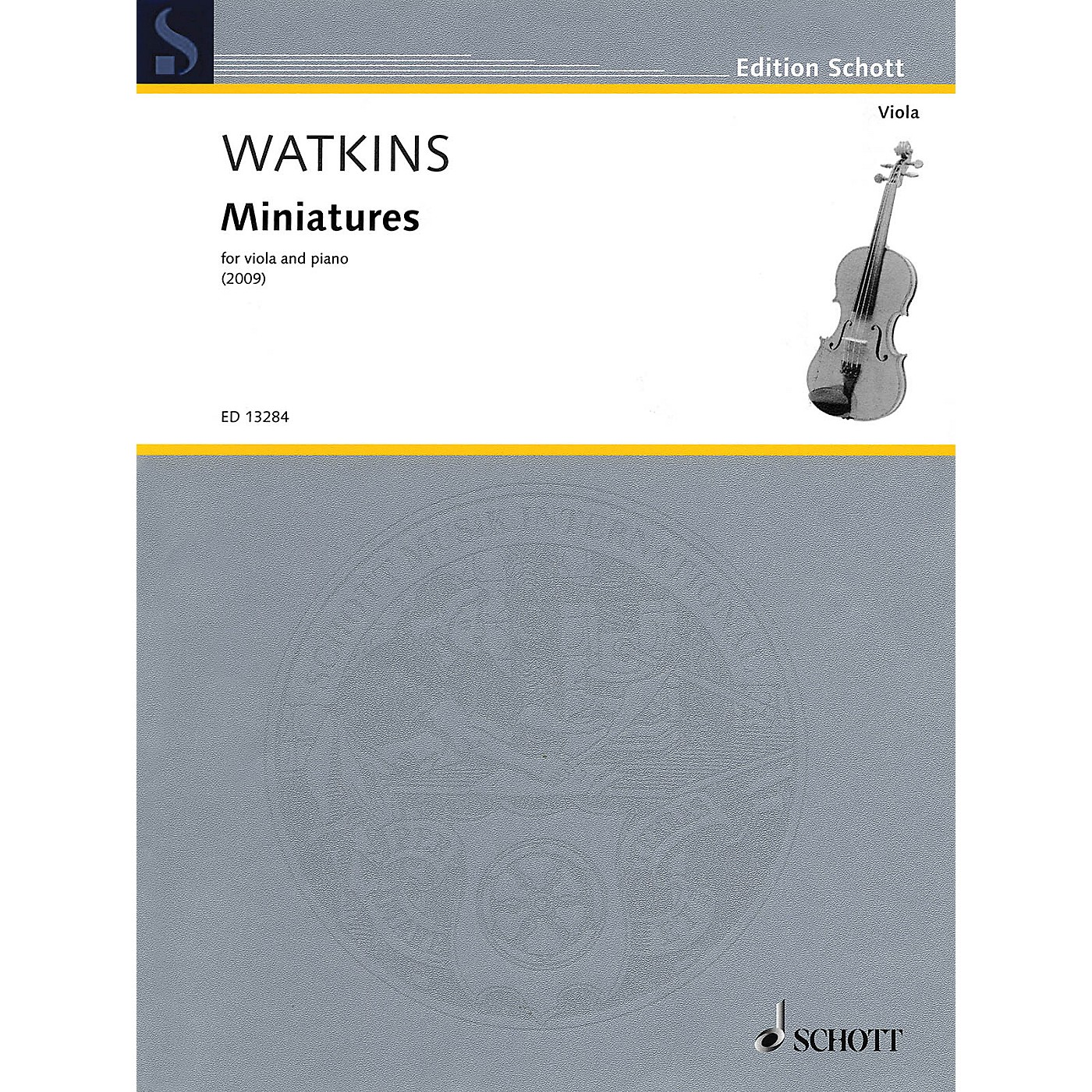 Schott Miniatures (Viola and Piano) Schott Series Softcover Composed by Huw Watkins thumbnail