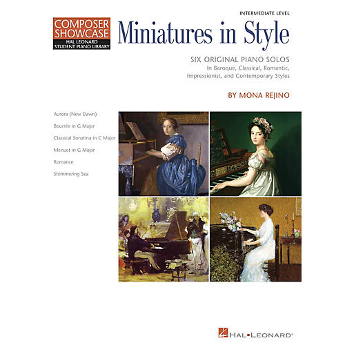 Hal Leonard Miniatures in Style Piano Library Series Book by Mona Rejino (Level Inter) thumbnail