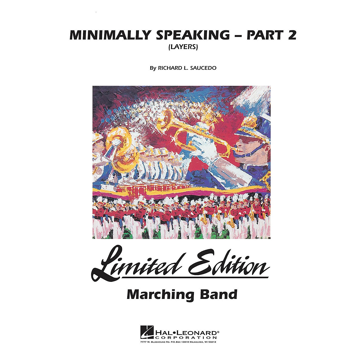 Hal Leonard Minimally Speaking - Part 2 (Layers) Marching Band Level 4-5 Composed by Richard L. Saucedo thumbnail