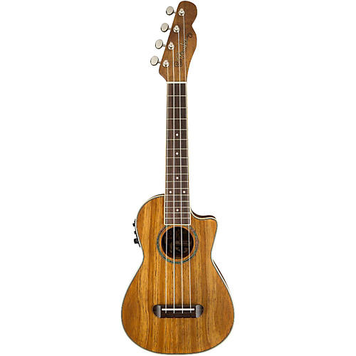 Fender Mino'Aka Koa Cutaway Concert Acoustic-Electric Ukulele thumbnail