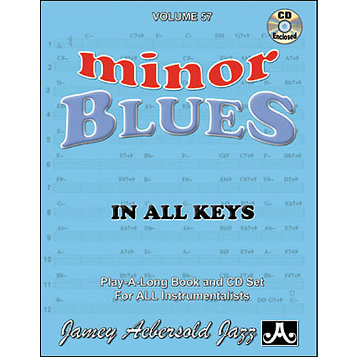 Jamey Aebersold Minor Blues In All Keys Play-Along Book and CD thumbnail