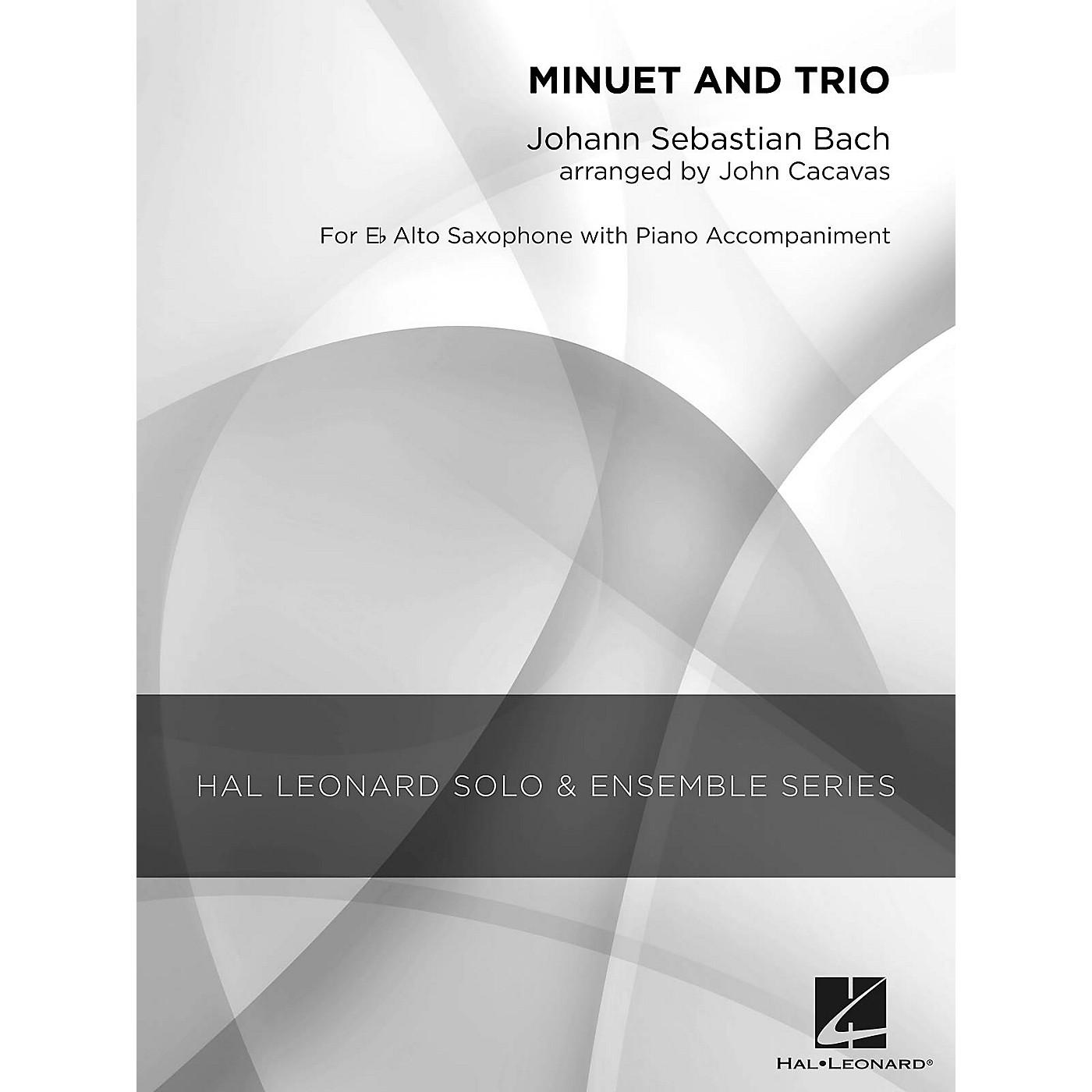 Hal Leonard Minuet and Trio (Grade 2.5 Alto Saxophone Solo) Concert Band Level 2.5 Arranged by John Cacavas thumbnail