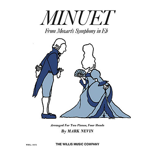 Willis Music Minuet from Symphony in E Flat (2 Pianos, 4 Hands/Later Elem Level) Willis Series by Mozart thumbnail