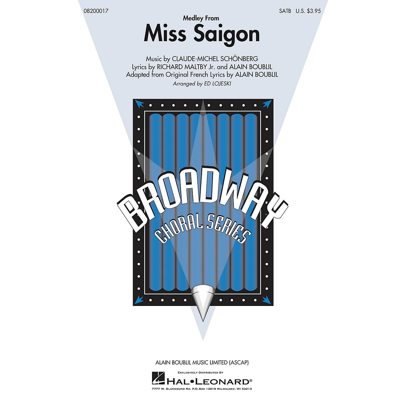 Hal Leonard Miss Saigon (Medley) SAB Arranged by Ed Lojeski thumbnail
