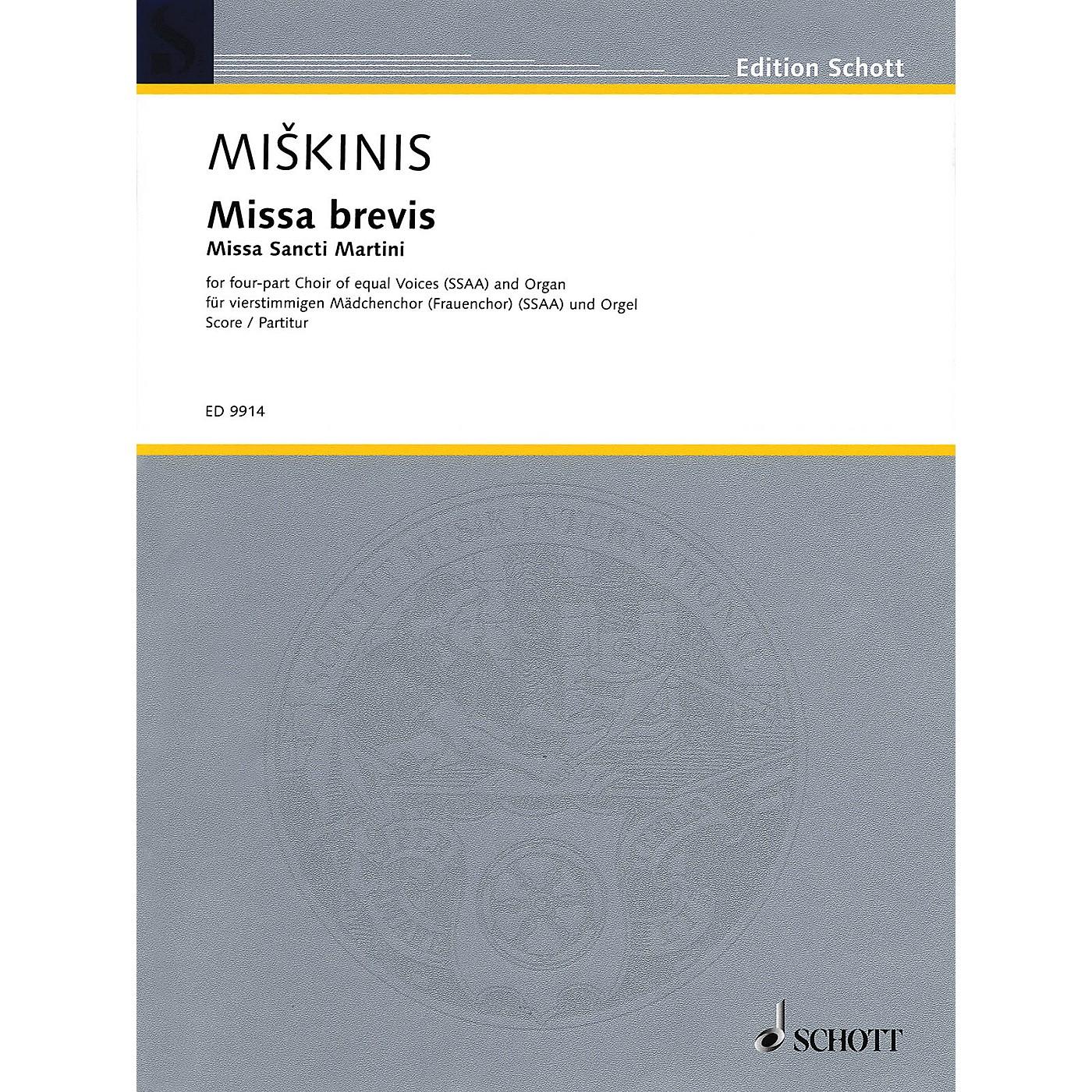 Schott Missa Brevis (Missa Sancti Martini) Composed by Vytautas Miskinis thumbnail