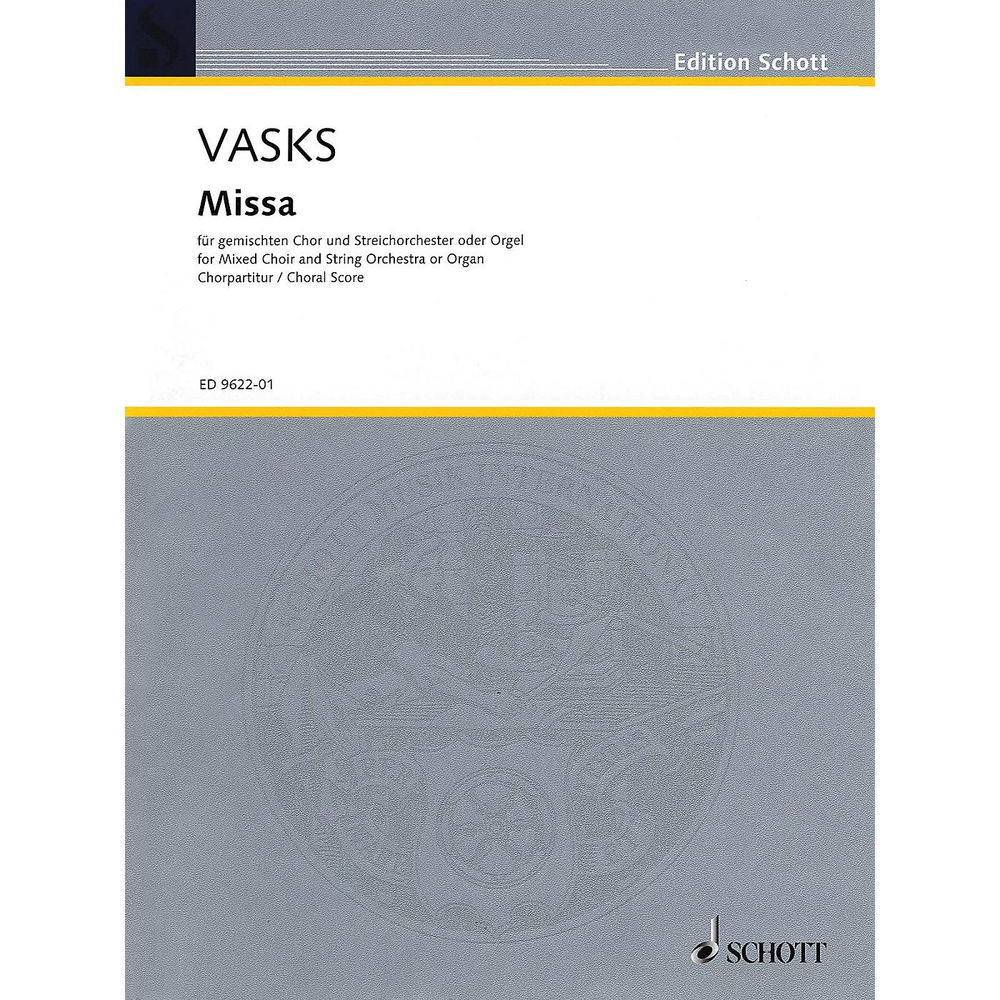 Schott Missa (Choral score, SATB chorus with organ reduction) Organ Composed by Peteris Vasks thumbnail
