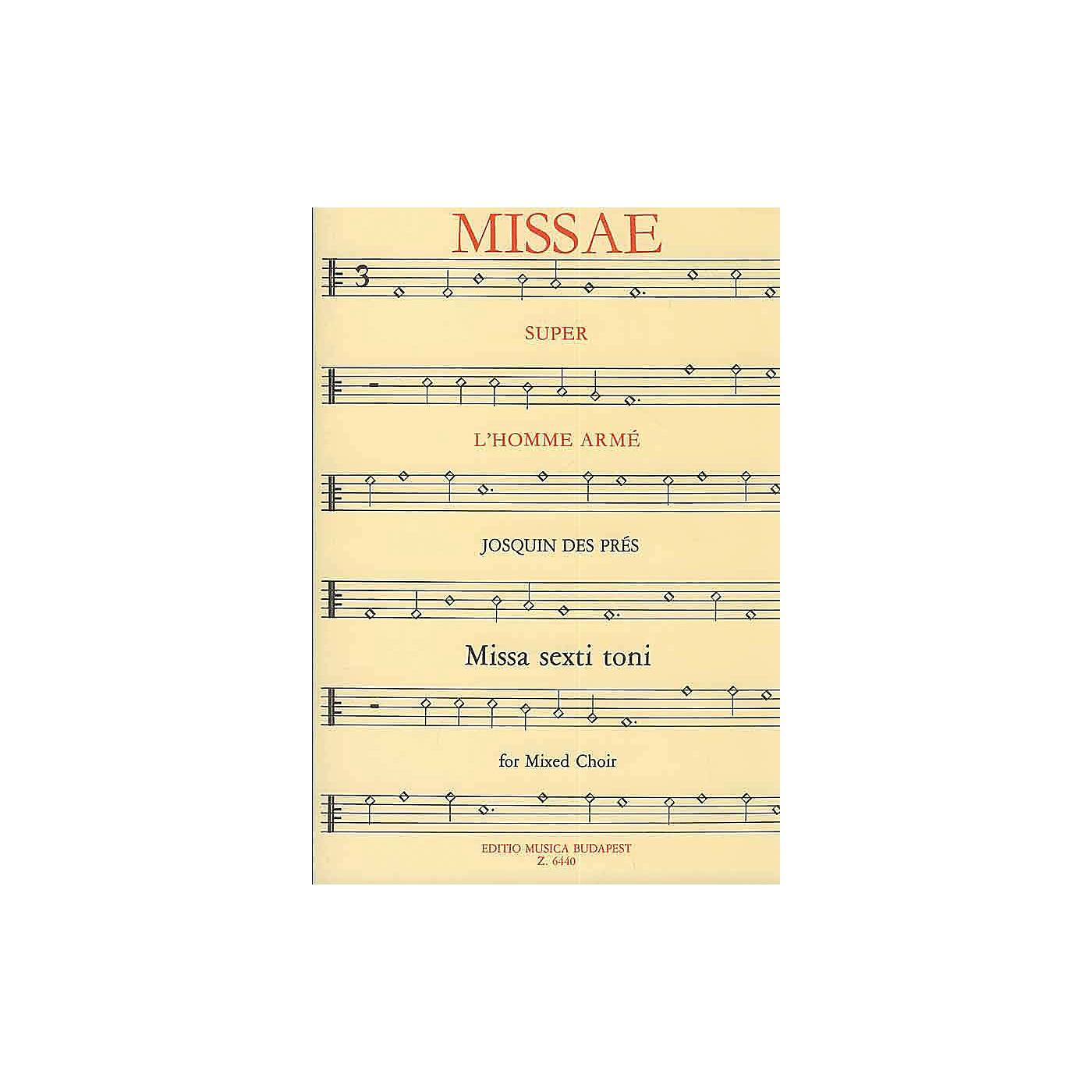 Editio Musica Budapest Missa L'homme armé (SATB) Composed by Josquin des Prés thumbnail