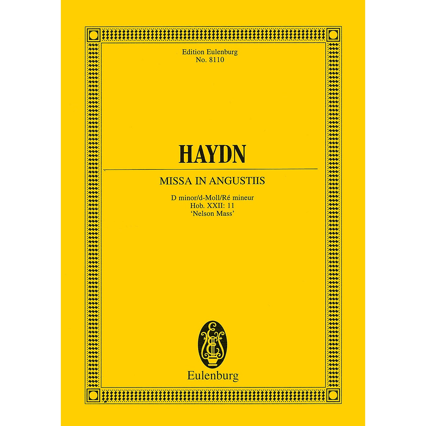 Eulenburg Missa in Angustiis ('Nelson Mass') Study Score Series Softcover Composed by Joseph Haydn thumbnail