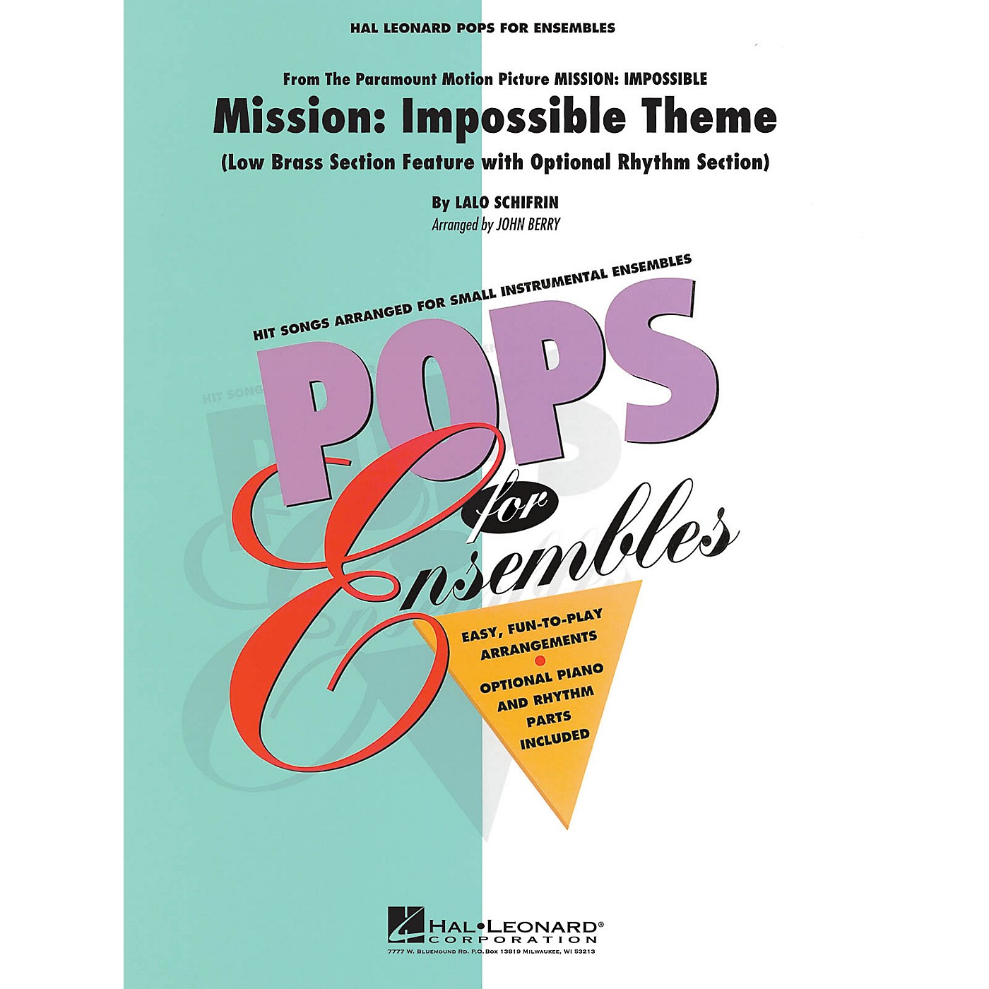 Hal Leonard Mission: Impossible (Low Brass Ensemble (opt. rhythm section)) Concert Band Level 2.5 by John Berry thumbnail