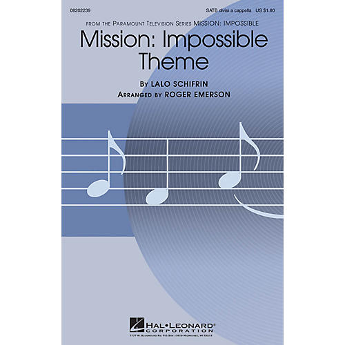 Hal Leonard Mission: Impossible Theme SATB DV A Cappella arranged by Roger Emerson thumbnail