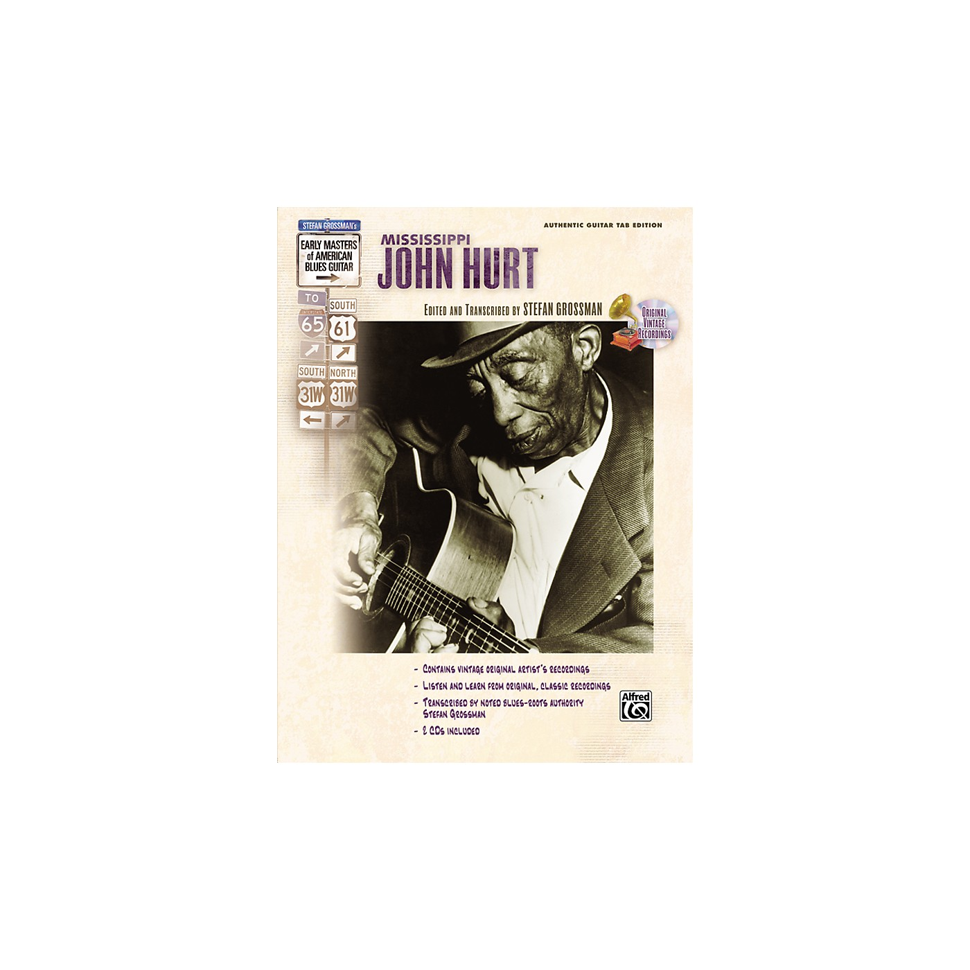 Alfred Mississippi John Hurt Early Masters of American Blues Guitar Book & CD thumbnail