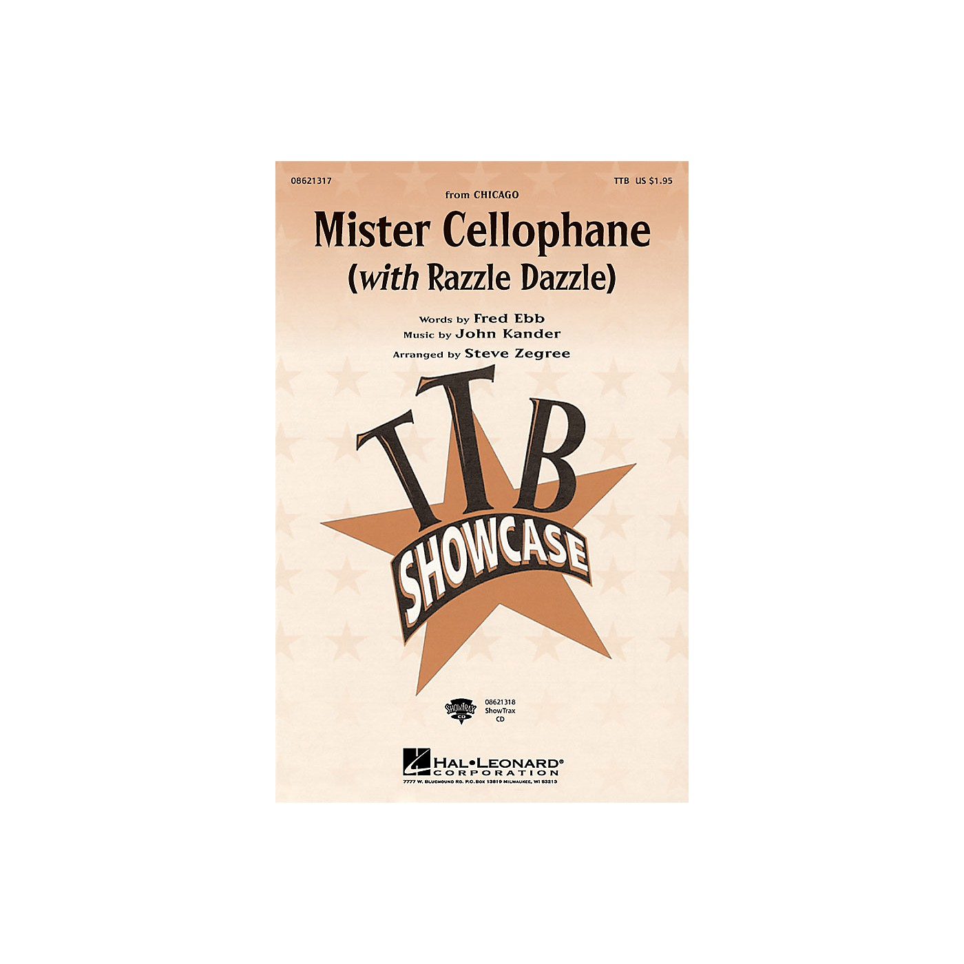 Hal Leonard Mister Cellophane (with Razzle Dazzle) (from Chicago) ShowTrax CD Arranged by Steve Zegree thumbnail