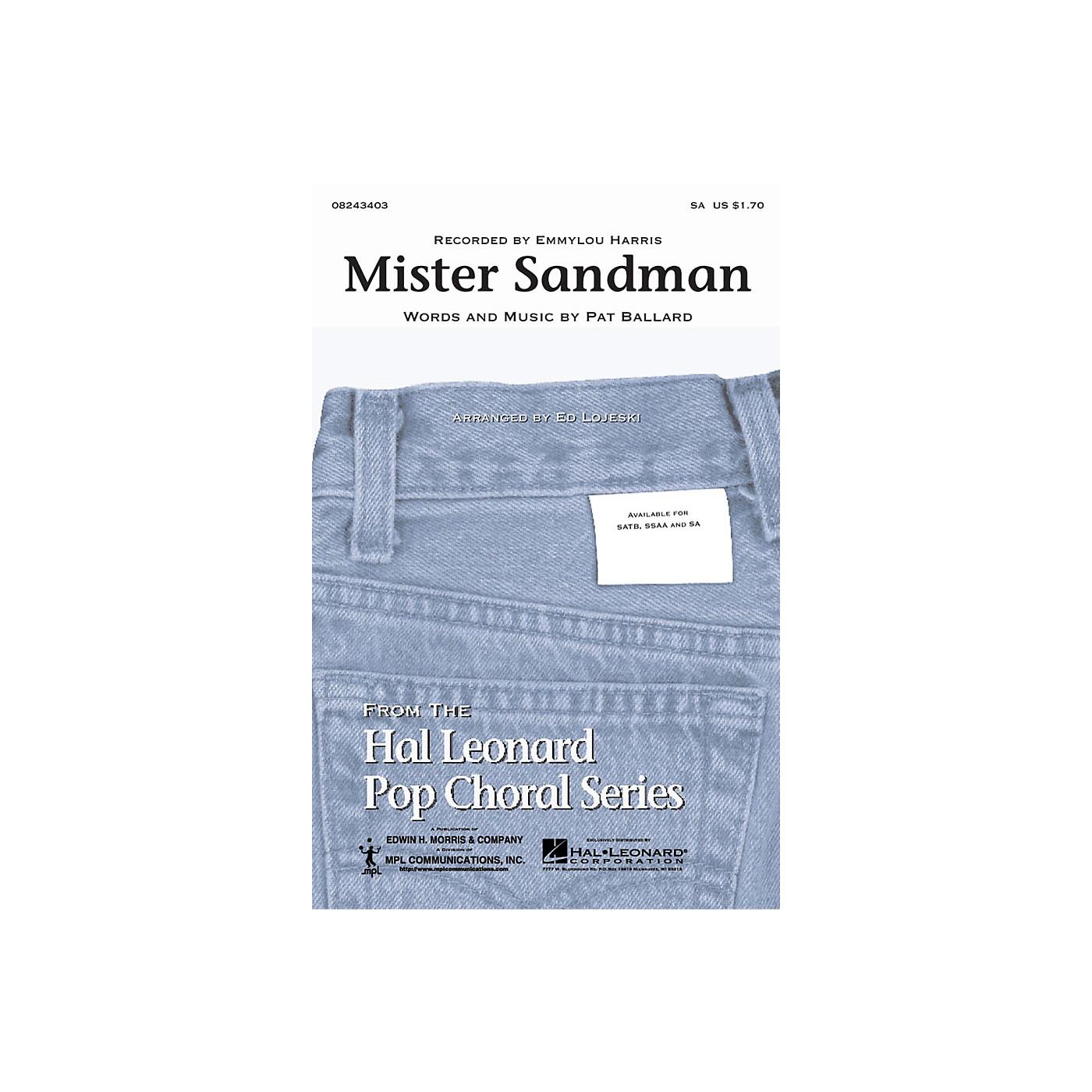 Hal Leonard Mister Sandman SA by Emmylou Harris arranged by Ed Lojeski thumbnail