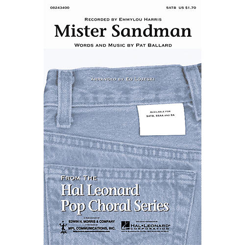 Hal Leonard Mister Sandman SATB by Emmylou Harris arranged by Ed Lojeski thumbnail