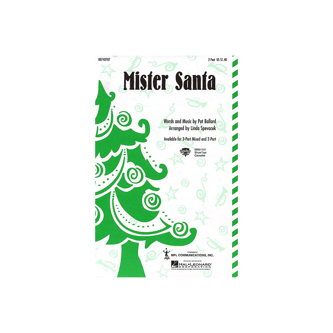 Hal Leonard Mister Santa 2-Part arranged by Linda Spevacek thumbnail