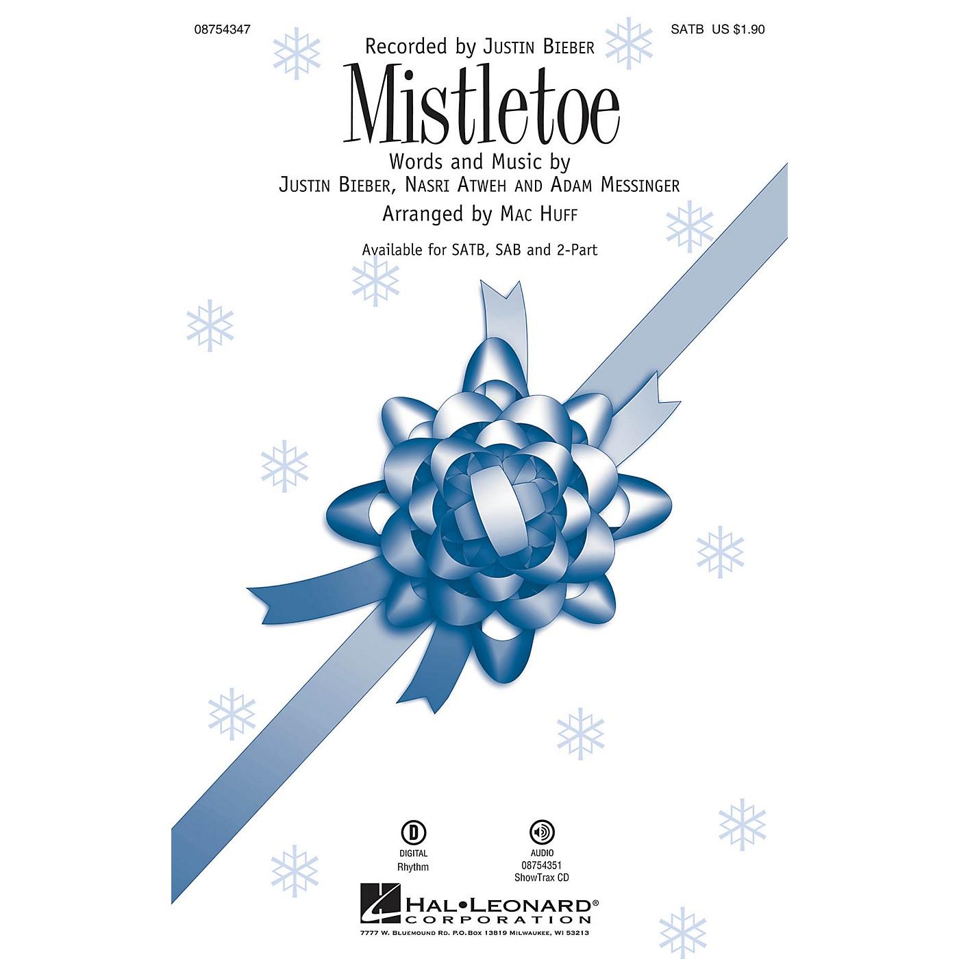 Hal Leonard Mistletoe ShowTrax CD by Justin Bieber Arranged by Mac Huff thumbnail