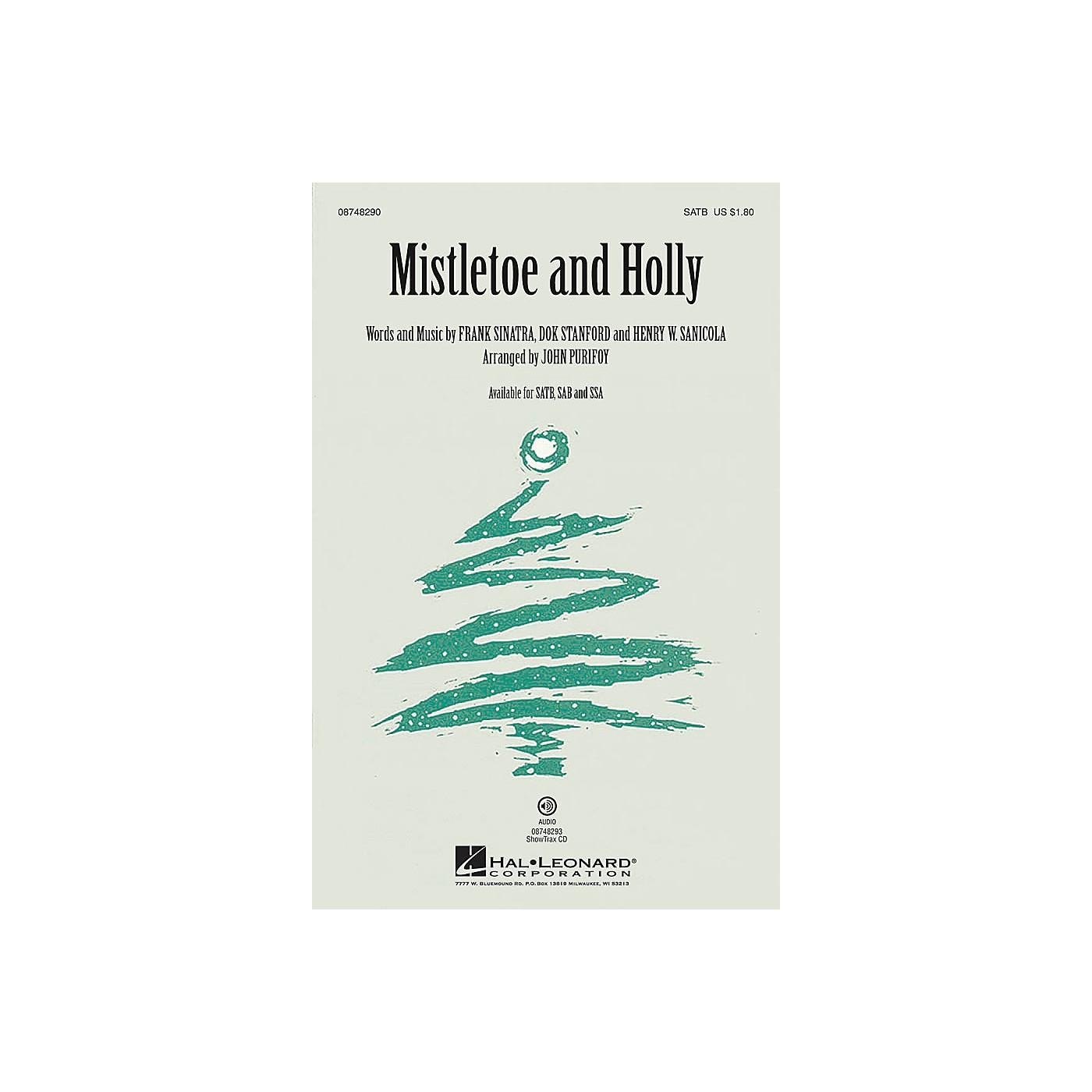 Hal Leonard Mistletoe and Holly SATB by Frank Sinatra arranged by John Purifoy thumbnail