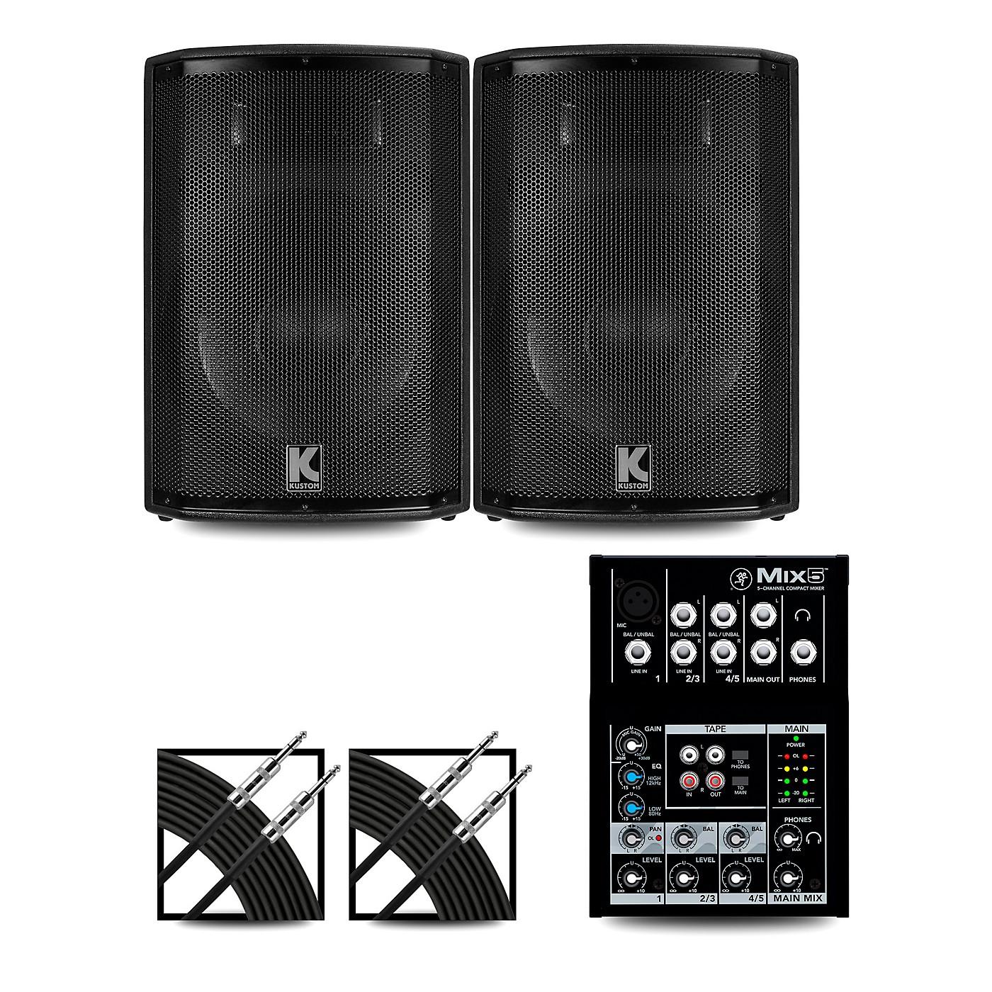 Mackie Mix5 Mixer and Kustom HiPAC Speakers thumbnail