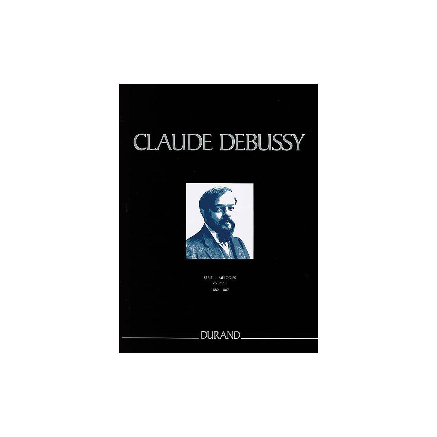 Durand Mélodies de 1882 à 1887 Critical Ed Full Score, Hardbound by Debussy Edited by Edmond Lemaître thumbnail