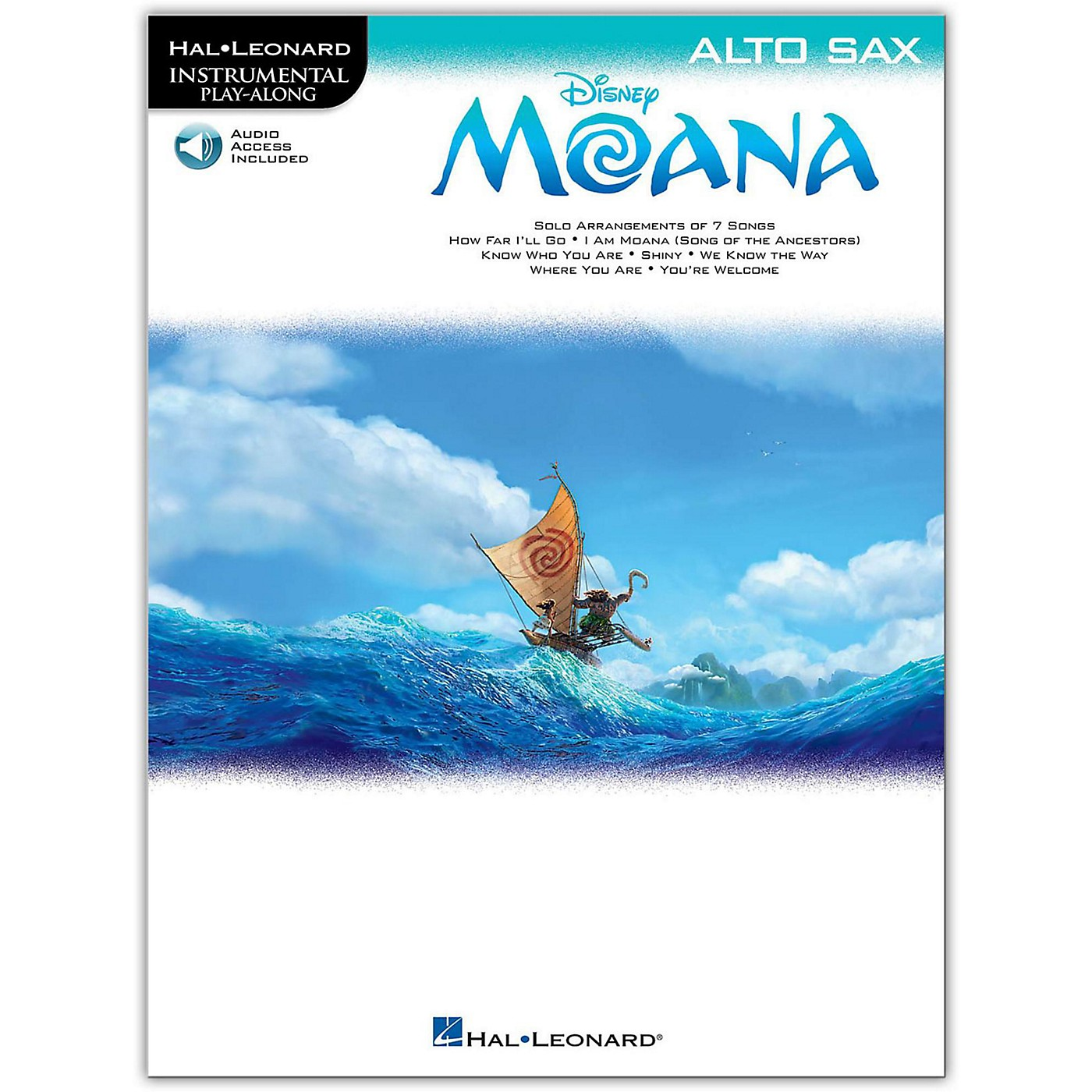 Hal Leonard Moana for Alto Sax - Instrumental Play-Along Book/Audio Online thumbnail
