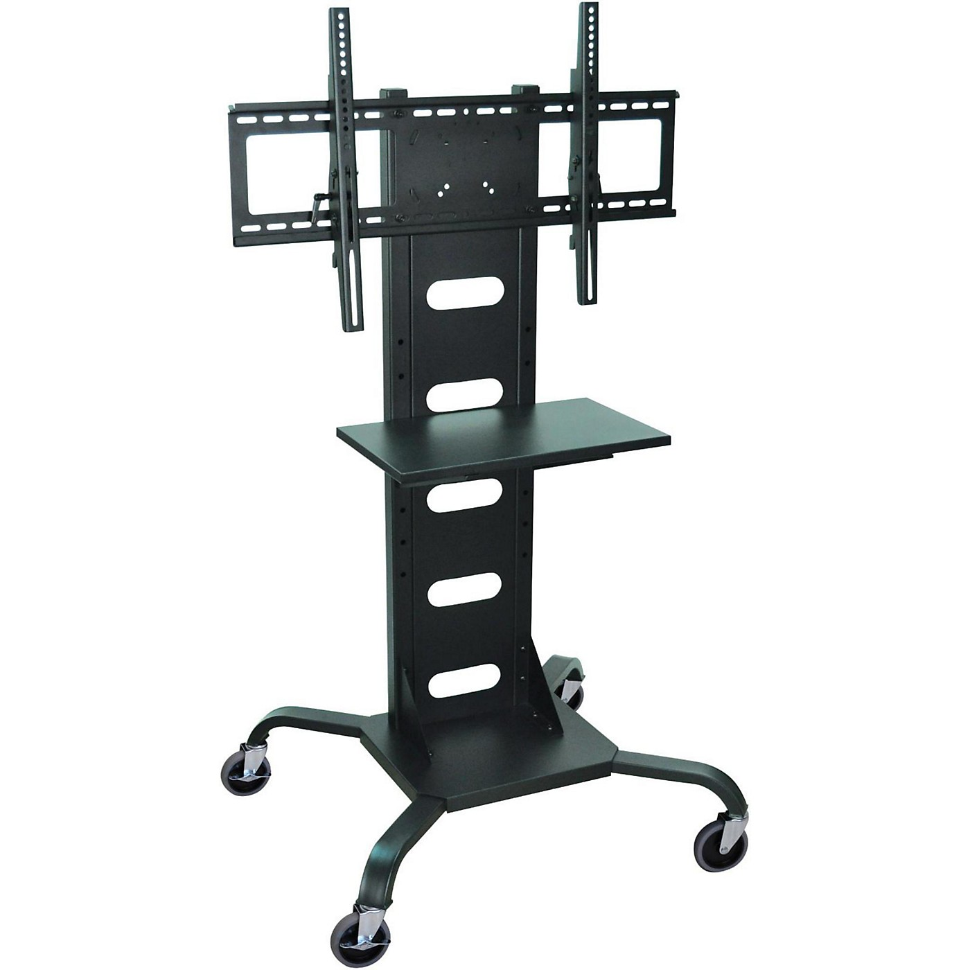 H. Wilson Mobile Flat Panel Display Stand With All-Steel Frame thumbnail