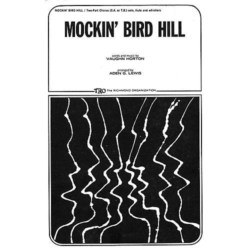 TRO ESSEX Music Group Mockin' Bird Hill 2-Part Arranged by Aden G. Lewis thumbnail