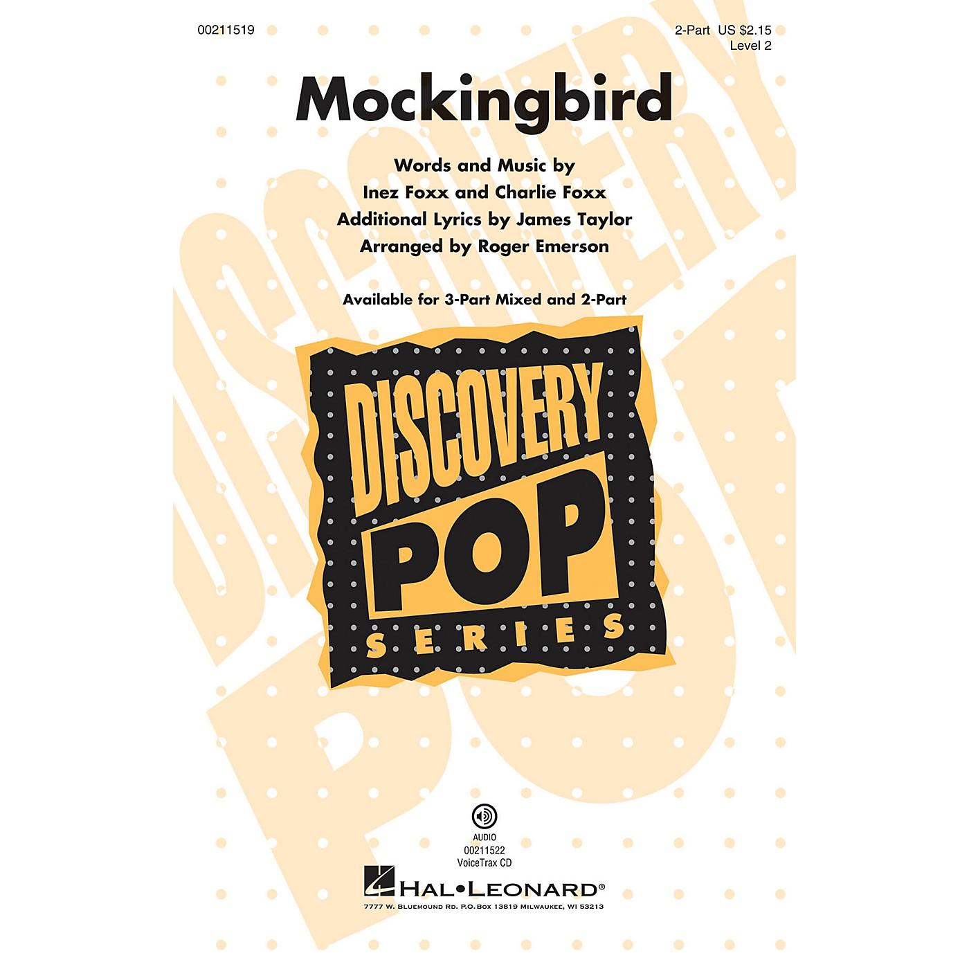 Hal Leonard Mockingbird (Discovery Level 2) 2-Part arranged by Roger Emerson thumbnail