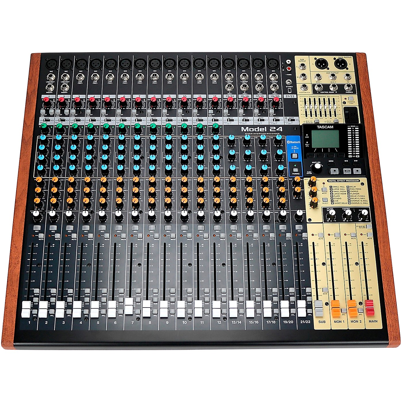 TASCAM Model 24 24-Channel Multitrack Recorder With Analog Mixer and USB Interface thumbnail