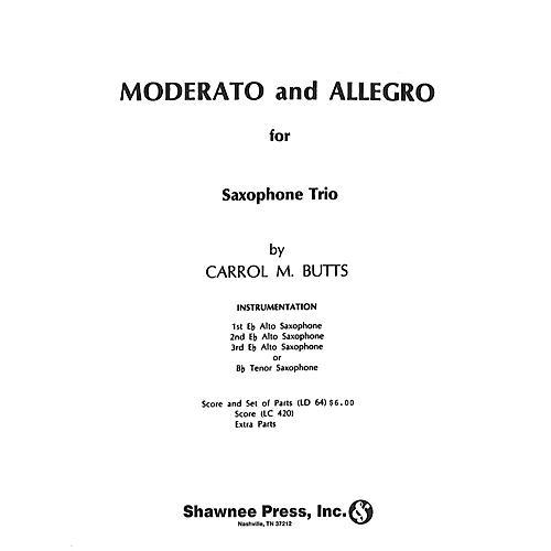 Hal Leonard Moderato and Allegro Saxophone Trio Saxophone thumbnail