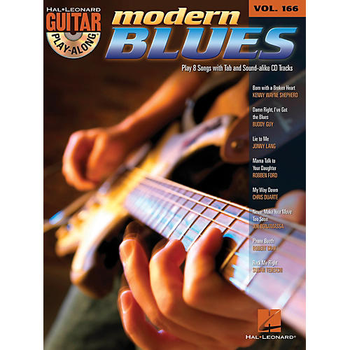 Hal Leonard Modern Blues - Guitar Play-Along Volume 166 Book/CD thumbnail