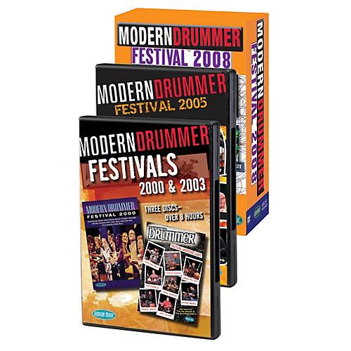 Hudson Music Modern Drummer Super Pack  Modern Drummer Fest 2000/2003/2005/2008 Pack 11 DVDs thumbnail