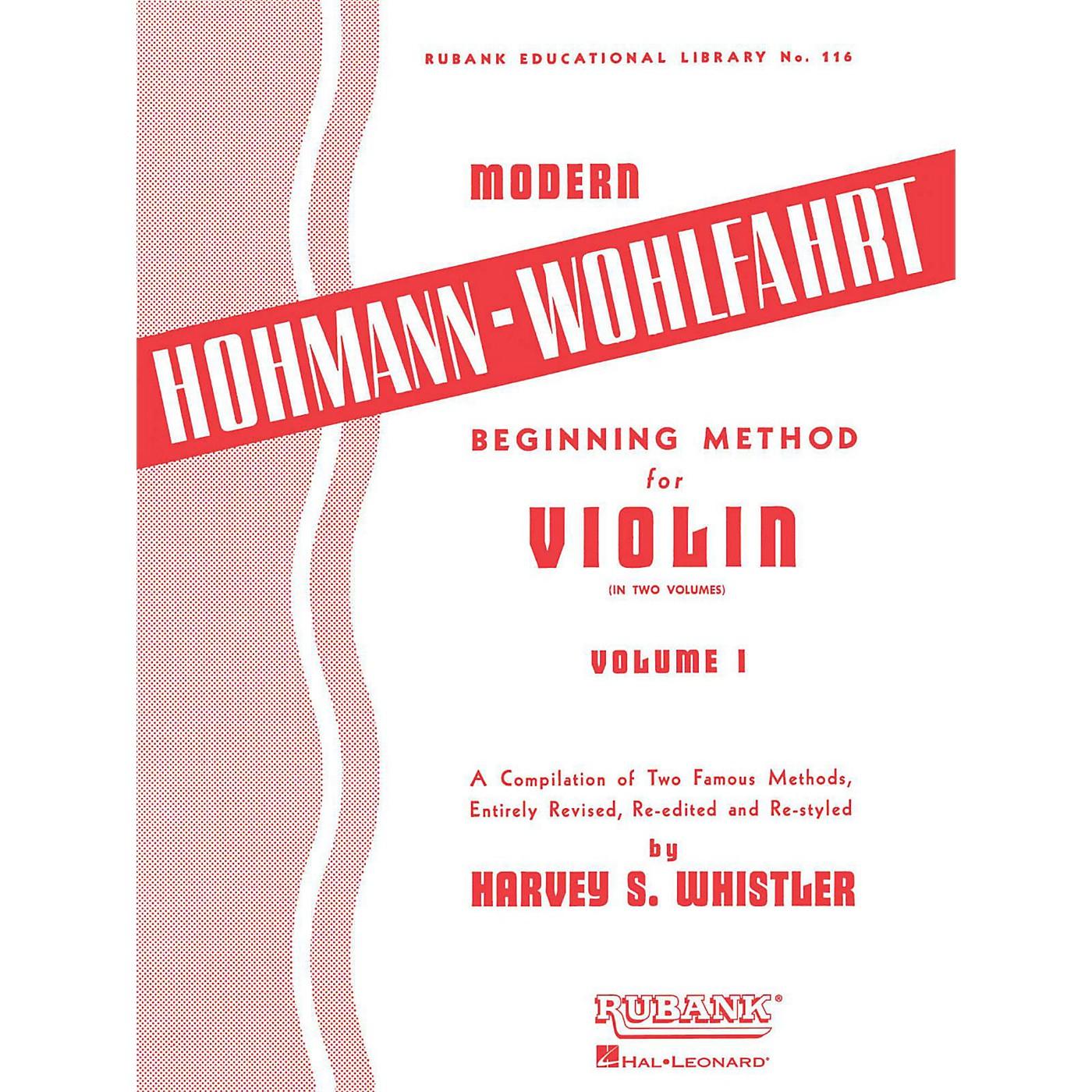 Hal Leonard Modern Hohmann-Wohlfahrt Beginning Method for Violin, Volume 1 thumbnail