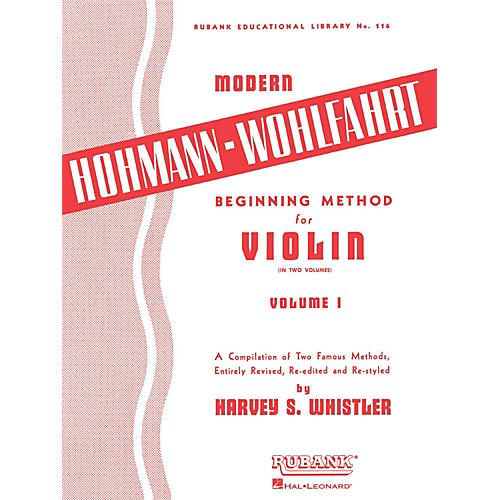 Hal Leonard Modern Hohmann-Wohlfahrt Beginning Method for Violin, Volume 1 thumbnail