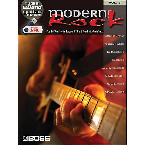 Hal Leonard Modern Rock Guitar Play-Along Volume 5 (Boss eBand Custom Book with USB Stick) thumbnail
