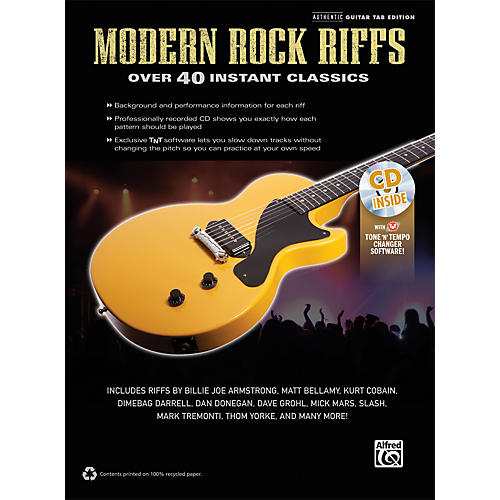 Alfred Modern Rock Riffs Guitar Book & CD-thumbnail