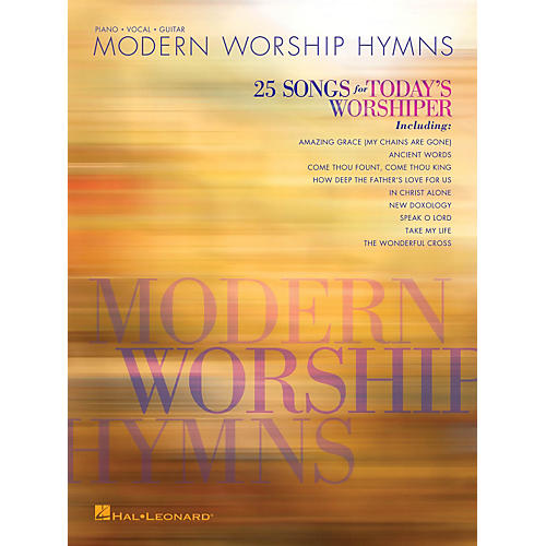 Hal Leonard Modern Worship Hymns - 25 Songs for Today's Worshiper Piano/Vocal/Guitar Songbook thumbnail