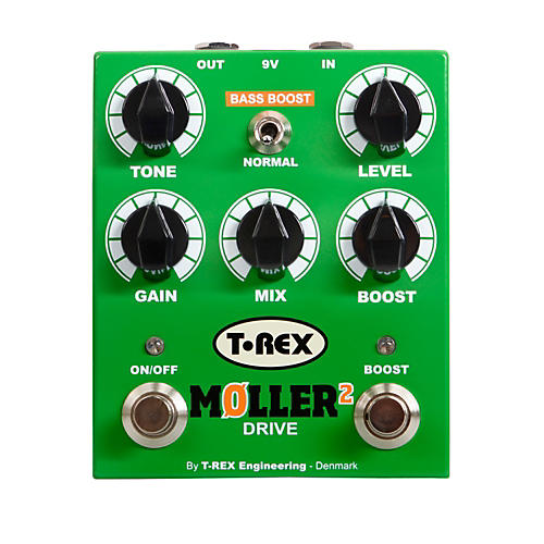 T-Rex Engineering Moller 2 Overdrive Pedal With Clean Boost thumbnail