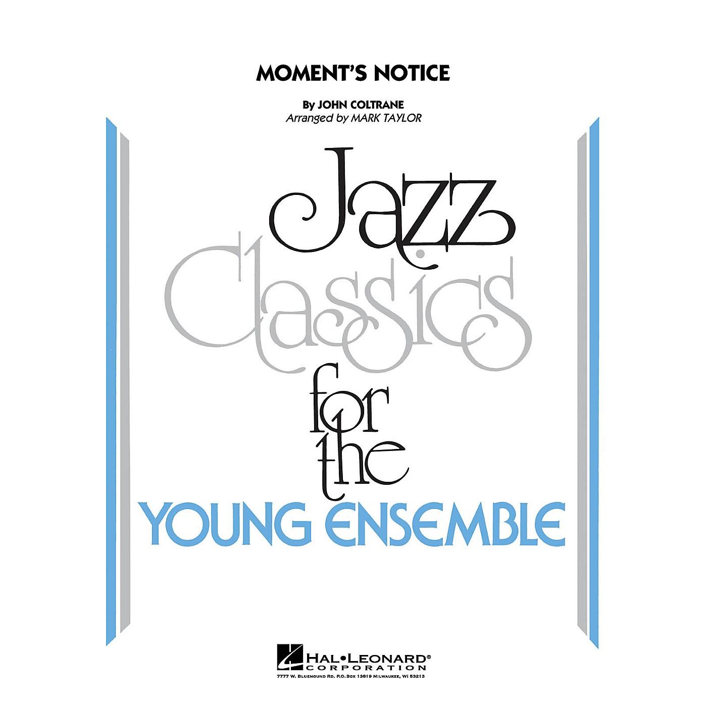 Hal Leonard Moment's Notice Jazz Band Level 3 Arranged by Mark Taylor thumbnail