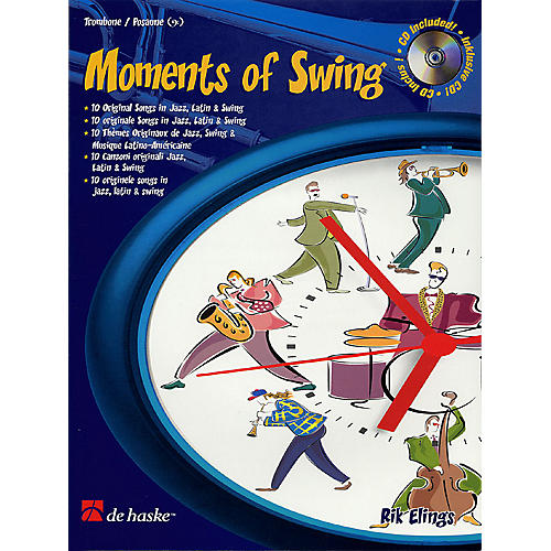 De Haske Music Moments of Swing (Trombone) De Haske Play-Along Book Series Composed by Rik Elings thumbnail