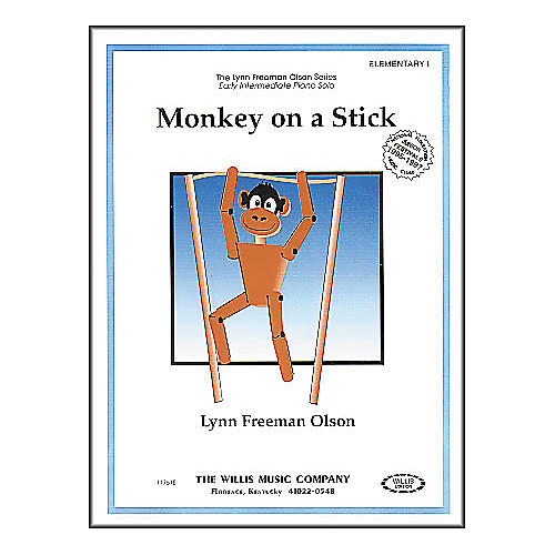 Willis Music Monkey On A Stick Early Intermediate Piano Solo by Lynn Freeman Olson thumbnail
