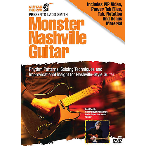 Music Sales Monster Nashville Guitar (Guitar Sherpa Presents) Music Sales America Series DVD Written by Ladd Smith thumbnail