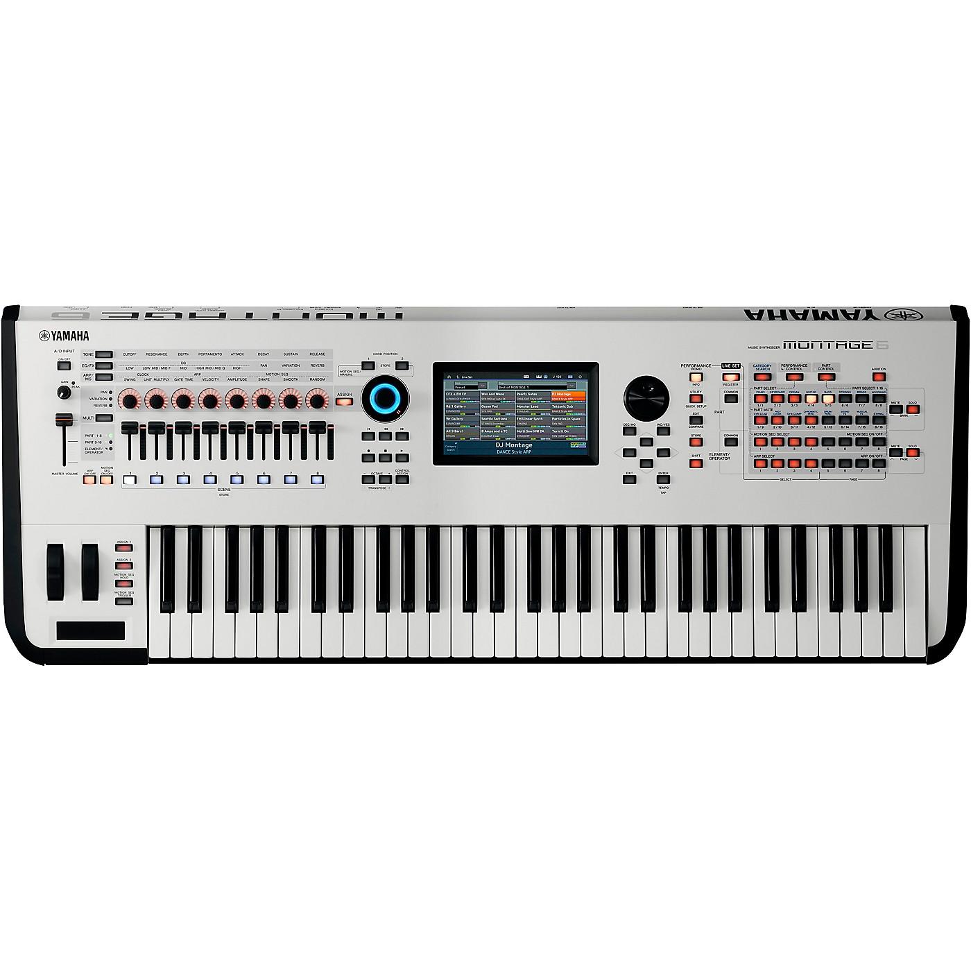 Yamaha Montage 6 61-Key Flagship Synthesizer White thumbnail