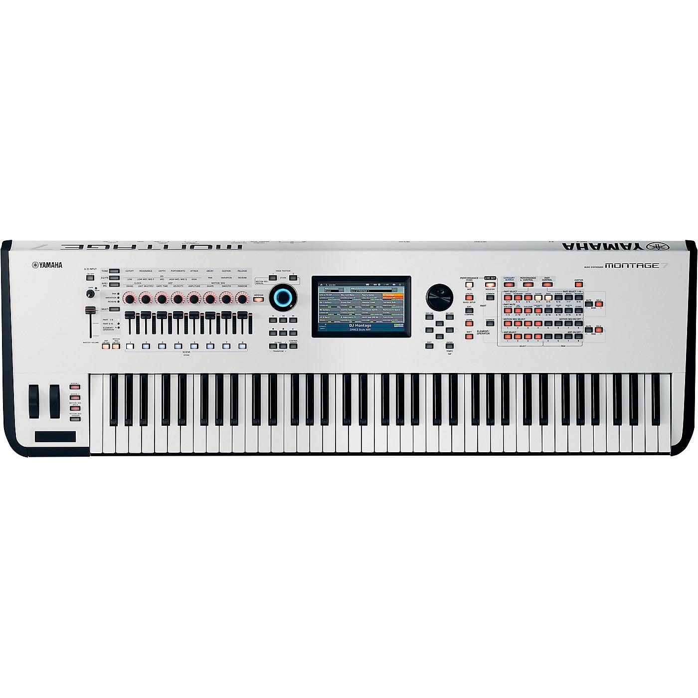 Yamaha Montage 7 76-Key Flagship Synthesizer White thumbnail