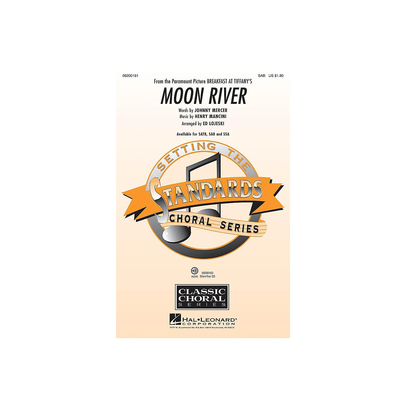 Hal Leonard Moon River (from Breakfast at Tiffany's) SAB arranged by Ed Lojeski thumbnail