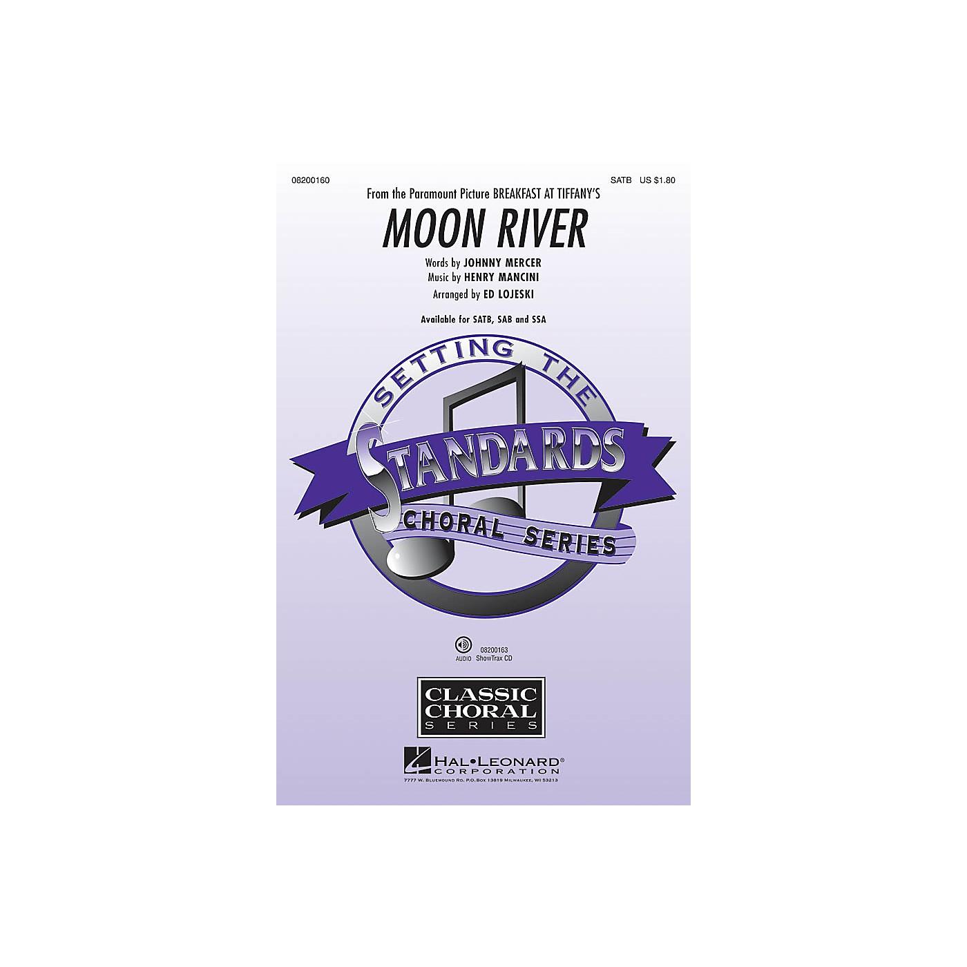 Hal Leonard Moon River (from Breakfast at Tiffany's) SATB arranged by Ed Lojeski thumbnail
