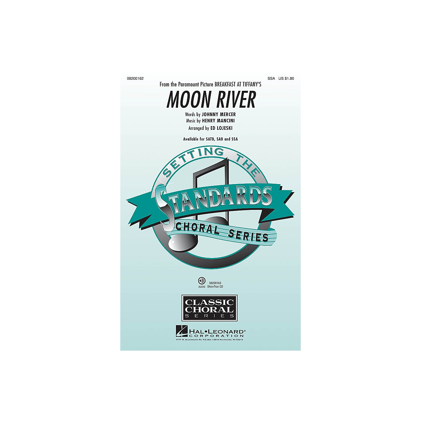 Hal Leonard Moon River (from Breakfast at Tiffany's) SSA arranged by Ed Lojeski thumbnail