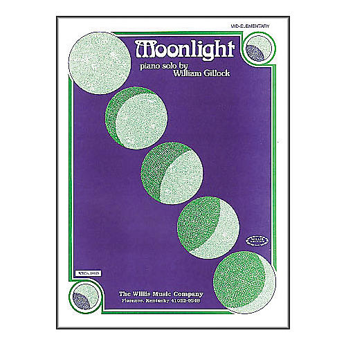 Willis Music Moonlight Mid Elementary Piano Solo by William Gillock thumbnail