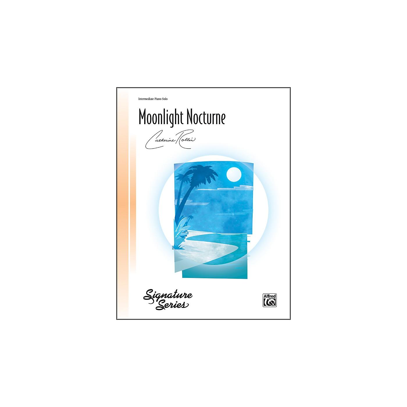 Alfred Moonlight Nocturne Intermediate Piano Sheet thumbnail