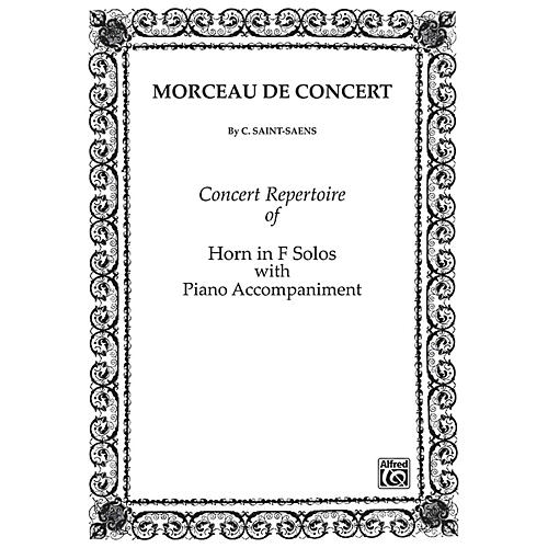 Alfred Morceau de Concert for French Horn By Camille Saint-Sa«ns Book thumbnail