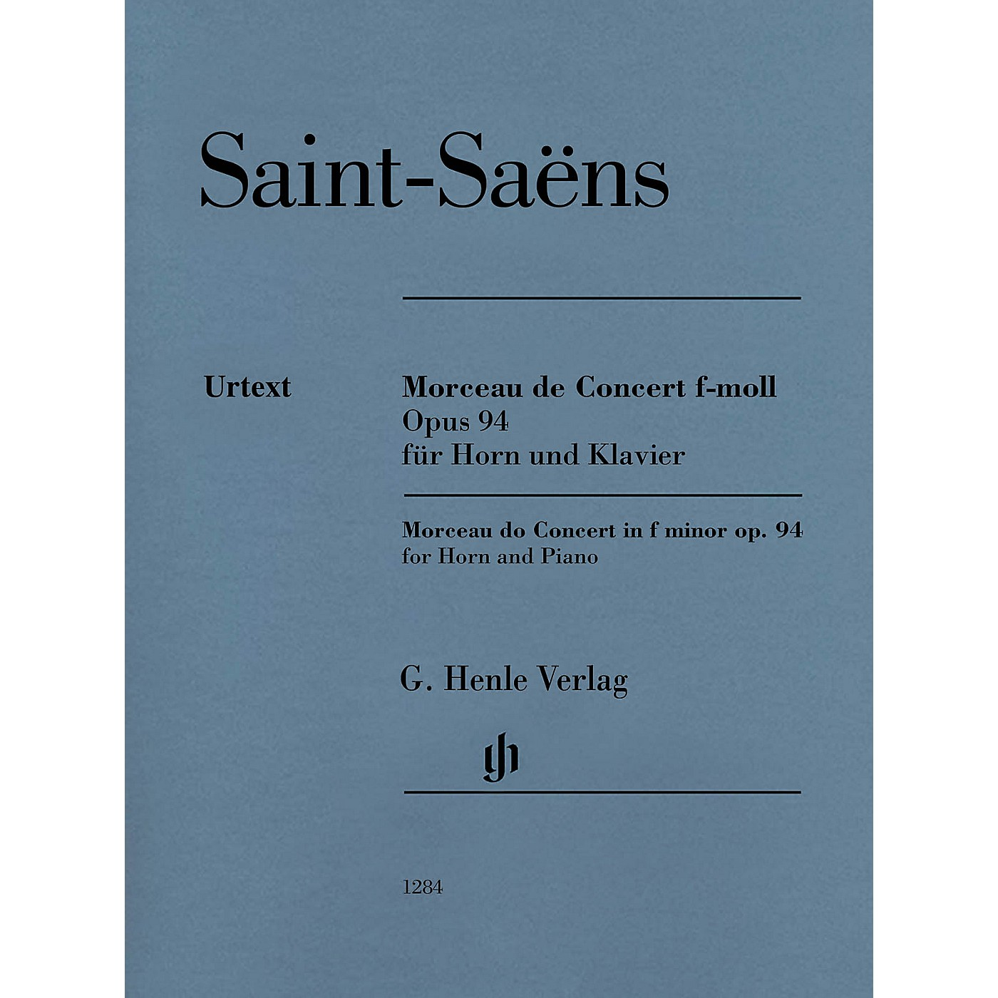 G. Henle Verlag Morceau de Concert in F minor Op. 94 (Horn and Piano) Henle Music Folios Series Softcover thumbnail